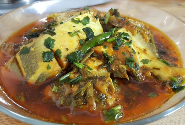 Rupchanda (Pomfret) & Parsley Curry