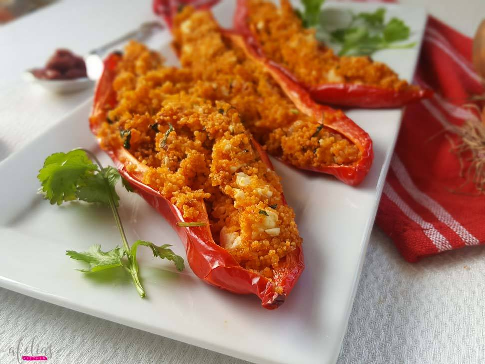 stuffed peppers with couscous and feta recipe