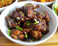 Sticky Ginger Soy Chicken Niblets